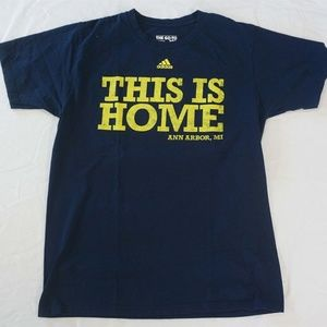ADIDAS Go-To Tee This is Home Ann Arbor MI